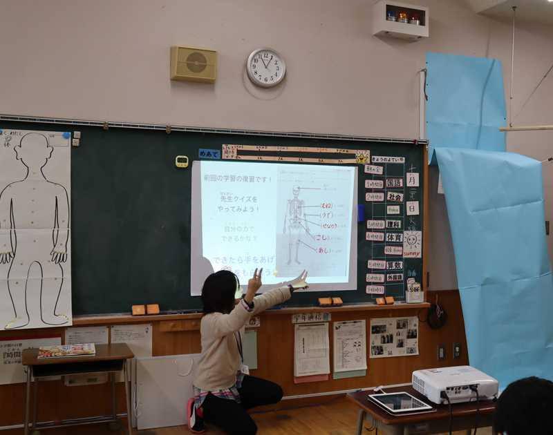 iPadを活用した授業の様子